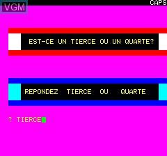 Image du menu du jeu Tierce sur Tangerine Computer Systems Oric