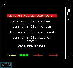 Image in-game du jeu Objective Elysee sur Tangerine Computer Systems Oric