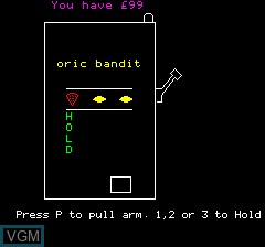Image in-game du jeu Oric Bandit sur Tangerine Computer Systems Oric