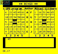 Oric Bingo