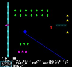 Image in-game du jeu Oric Flight sur Tangerine Computer Systems Oric