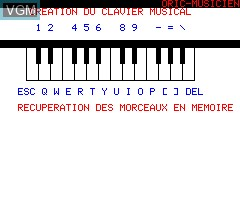 Image in-game du jeu Oric Musicien sur Tangerine Computer Systems Oric