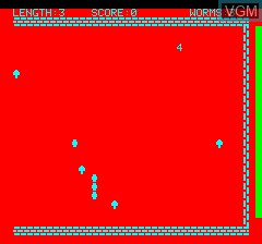 Image in-game du jeu Oric Worm sur Tangerine Computer Systems Oric