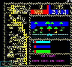 Image in-game du jeu Africa sur Tangerine Computer Systems Oric