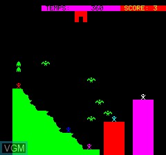 Image in-game du jeu Aiglon sur Tangerine Computer Systems Oric