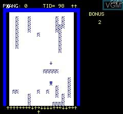 Image in-game du jeu Amor's Pilar sur Tangerine Computer Systems Oric