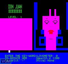 Image in-game du jeu Don Juan sur Tangerine Computer Systems Oric