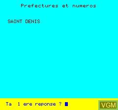 Image in-game du jeu La France Quiz sur Tangerine Computer Systems Oric