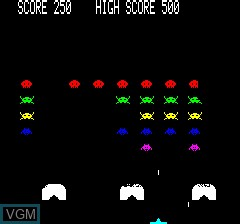 Image in-game du jeu Oric Invaders sur Tangerine Computer Systems Oric