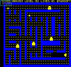 Image in-game du jeu Oricmunch sur Tangerine Computer Systems Oric