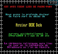 Image in-game du jeu Paranaud sur Tangerine Computer Systems Oric