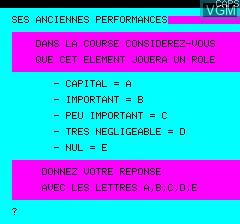 Image in-game du jeu Tierce sur Tangerine Computer Systems Oric