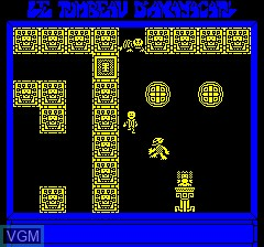 Image in-game du jeu Tombeau D'Axayacat, Le sur Tangerine Computer Systems Oric