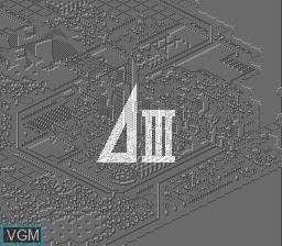 Image de l'ecran titre du jeu A. III sur NEC PC Engine CD