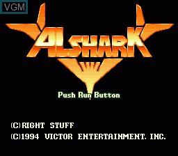 Image de l'ecran titre du jeu Alshark sur NEC PC Engine CD