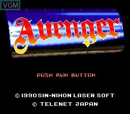 Image de l'ecran titre du jeu Avenger sur NEC PC Engine CD