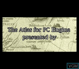 Image de l'ecran titre du jeu Atlas, The - Renaissance Voyager sur NEC PC Engine CD