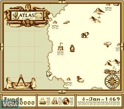 Image du menu du jeu Atlas, The - Renaissance Voyager sur NEC PC Engine CD