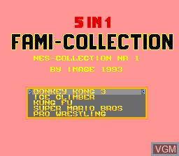 5-in-1 Fami Collection - NES Collection Nr 1