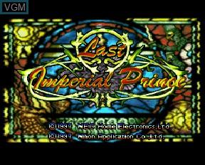 Image de l'ecran titre du jeu Last Imperial Prince sur NEC PC-FX