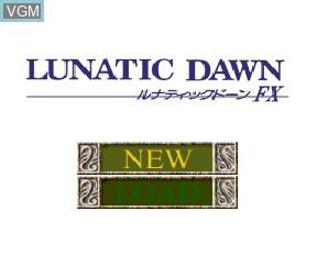 Image de l'ecran titre du jeu Lunatic Dawn FX sur NEC PC-FX