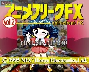 Image de l'ecran titre du jeu Anime Freak FX Volume 2 sur NEC PC-FX