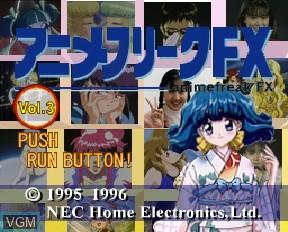 Image de l'ecran titre du jeu Anime Freak FX Volume 3 sur NEC PC-FX