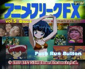 Image de l'ecran titre du jeu Anime Freak FX Volume 5 sur NEC PC-FX