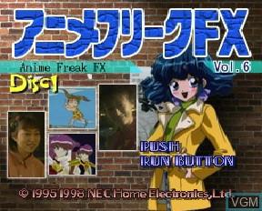 Image de l'ecran titre du jeu Anime Freak FX Volume 6 sur NEC PC-FX