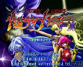 Image de l'ecran titre du jeu Cutey Honey FX sur NEC PC-FX