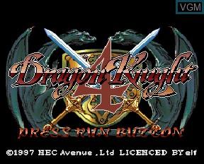 Image de l'ecran titre du jeu Dragon Knight 4 sur NEC PC-FX