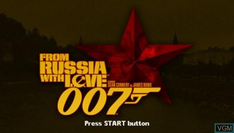 Image de l'ecran titre du jeu 007 - From Russia with Love sur Sony PSP