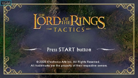 Image de l'ecran titre du jeu Lord of the Rings, The - Tactics sur Sony PSP