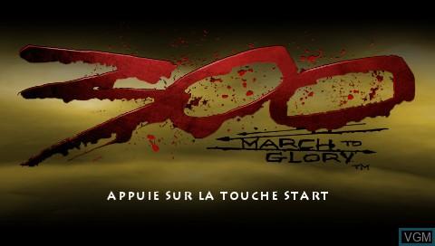 Image de l'ecran titre du jeu 300 - March to Glory sur Sony PSP