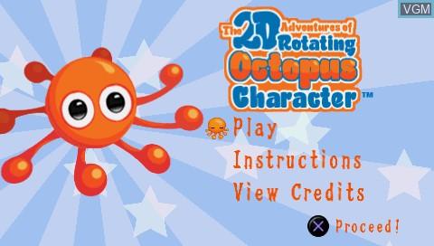 Image de l'ecran titre du jeu 2D Adventures of Rotating Octopus Character, The sur Sony PSP
