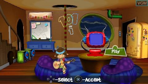 Image de l'ecran titre du jeu 101 in 1 Megamix sur Sony PSP