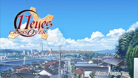 Image de l'ecran titre du jeu 11 Eyes Crossover sur Sony PSP
