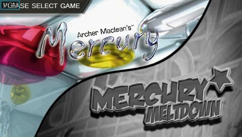 Image de l'ecran titre du jeu 2 Games in 1! - Archer Maclean's Mercury & Mercury Meltdown sur Sony PSP