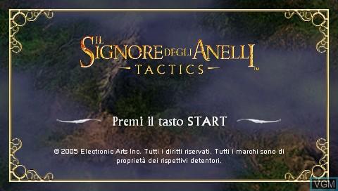 Image de l'ecran titre du jeu Signore degli Anelli, Il - Tactics sur Sony PSP
