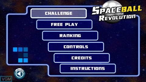 Image de l'ecran titre du jeu Spaceball Revolution sur Sony PSP