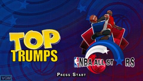Image de l'ecran titre du jeu Top Trumps - NBA All Stars sur Sony PSP