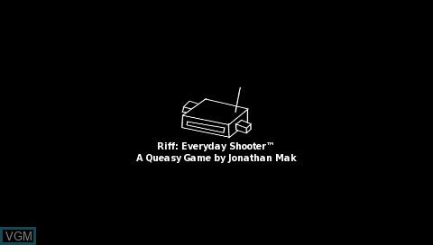 Image de l'ecran titre du jeu Riff - Everyday Shooter sur Sony PSP