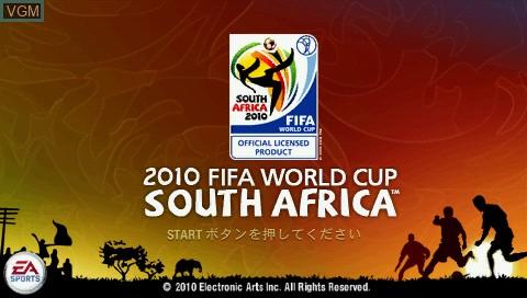 Image de l'ecran titre du jeu 2010 FIFA World Cup - Minami Africa Taikai sur Sony PSP