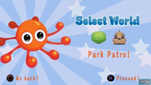 Image du menu du jeu 2D Adventures of Rotating Octopus Character, The sur Sony PSP