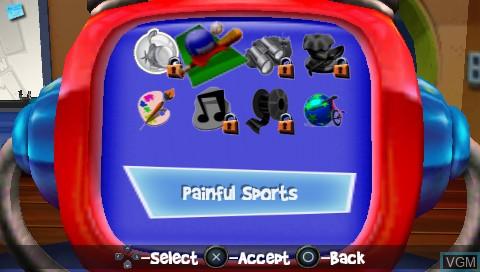 Image du menu du jeu 101 in 1 Megamix sur Sony PSP