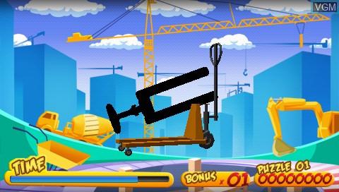 Image du menu du jeu 3D Twist & Match sur Sony PSP