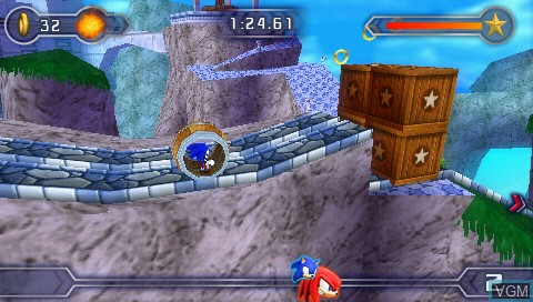 Image in-game du jeu Sega Fun Pack - Sonic Rivals 2 / Genesis Collection sur Sony PSP
