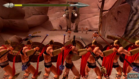 Image in-game du jeu 300 - March to Glory sur Sony PSP
