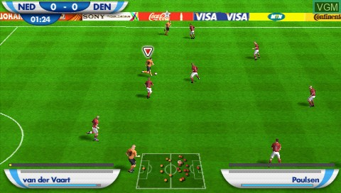 Image in-game du jeu 2010 FIFA World Cup - South Africa sur Sony PSP