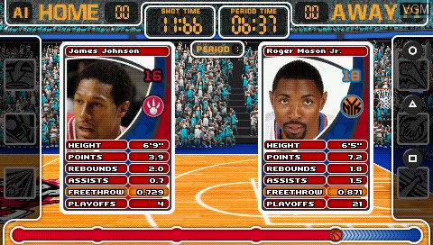 Image in-game du jeu Top Trumps - NBA All Stars sur Sony PSP